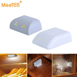 infrared wardrobe light Australia - Battery Led Night Lamp Infrared Motion Sensor Light Kitchen Inner Hinge Drawer Cupboard Wardrobe Closet Under Cabinet Light