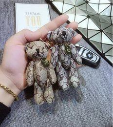 Discount wedding couple teddy bears New listing cute cartoon joints bear keychain pendant teddy bear fashion men and women couples gift key chain bag orname
