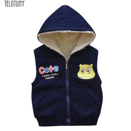 Cartoon Girl Hood Australia - TELOTUNY Kid baby cloth hood Cartoon vest winter warm vest Infant Jackets Baby Warm Veat Waistcoat Clothes Hoodie Coat Z1129
