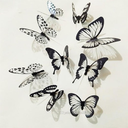 crystal butterfly wall NZ - 18pcs lot 3d Effect Crystal Butterflies Wall Sticker Beautiful Butterfly for Room Wall Decals Home Decoration On the Wall Decorative sticker