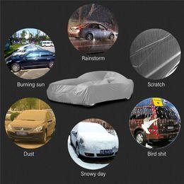 Encerado Resistente À Água Proteção Solar Espessamento Cobertura Do Carro Ao Ar Livre Indoor Para O Carro Refletor Poeira Chuva Neve Protetores M L XL venda por atacado