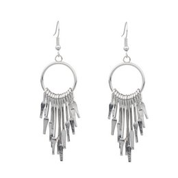 $enCountryForm.capitalKeyWord Australia - 1 Pair Tassel Pendants Classic Earrings Fashion Luxury Design Earrings For Women Girls Brillant Cute Metal Sliver Silver