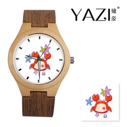 $enCountryForm.capitalKeyWord Australia - YAZI Personalize Wooden Watch Cancer Logo Watches Natural Bamboo Wood Case Wrist Watches Wood Stripe Band Memory Gift