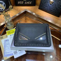Branded Leather Bags For Men Australia - hotsale brand designer clutch bag for men high quality bird face designer handbags genuine leather small size envelope bags