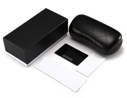 Wholesale Boxes Packaging Australia - Black Brown Red White Sunglasses packages Box with Glasses Clothes High Quality Sun Glasses Black Case Eyewear Accessories 5 Set Top Quality