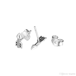 933d4beb3 Compatible with earrings 925 Sterling Silver Sparkling Arrows Stud Earrings  For Women European Style Jewelry Original Fashion Charm