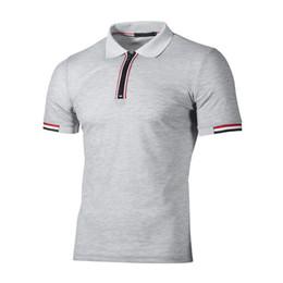 Shirt Collar Hit Australia - good quality Men's Polo Shirt Fashion Hit Color Lattice Collar Casual Pure Color Paul Shirt Brand Polo Shirt Men's Clothing Tops