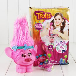 Figures Australia - 22Cm Movie Troll Doll Leprocauns Dam Dolls Trolls Poppy With Light Pvc Action Figure Collectible Model Toy With Box