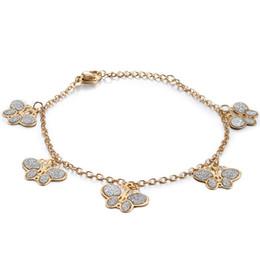 $enCountryForm.capitalKeyWord NZ - jingyang stainless steel Gold butterfly bracelets for women boho bracelet charms friendship bracelets gifts for women evil eye