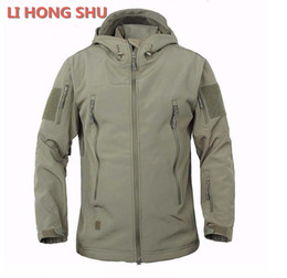 shark shell jacket NZ - High quality Lurker Shark skin Soft Shell TAD V 5.0 Military Tactical Jacket Waterproof Windproof Army bomber jacket Clothing