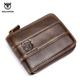 Rfid Print Australia - BULLCAPTAIN New Arrival Male RFID leather wallet Men Wallet Cowhide Coin Purse Slim Designer Brand Wallet Billetera para hombres #302604