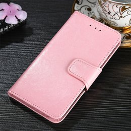 Horse Suit NZ - Suit IPhoneX Crazy Horse Crystal Phone Case For Samsung Note 8 9 S9 Plus Leather Wallet Card Holder Shockproof Cover Case