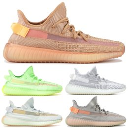 zebra light 2019 - Black Clay Men Running Shoes Kanye West Zebra Static Cream White Black Bred Men Designer Shoes Women Sport Sneakers With