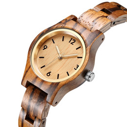 Wooden Gift Tags Australia - 2019 Hottest Wooden Watch Ladies Zebra Wrist Watches For Women Girls Wood Band Clock Female Birthday Gift