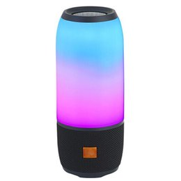 Acoustic speAkers online shopping - 2019 New Pulse3 LED Wireless Bluetooth Speaker Super Bass Stereo Loud Speaker Wireless Portable Acoustics Mini Outdoor Sound Box Subwoofer