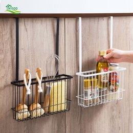 $enCountryForm.capitalKeyWord UK - Wrought iron lengthened storage basket Kitchen Hanging rack Bathroom cabinet Hanging basket Storage