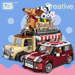 technic blocks Australia - LOZ Technic Mini Building Blocks Hot Dog Cart Car Vehicle Assemable Kids Educational Toys for Children Creator Ice Cream Truck SH190910