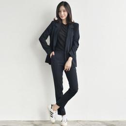 Cloth For Suits Australia - 2019 Work Pant Suits OL 2 Piece Set for Women Business Cloth set uniform smil Blazer and Pencil Pant Office Lady suit LM38