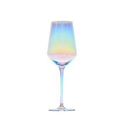 $enCountryForm.capitalKeyWord Australia - Fantasy colorful gradual change glass wine Beautiful rainbow champagne glass Goblet cup
