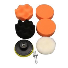 Car Waxing Pads Australia - 7pcs 4 Inch Wave Sponge Car Polishing Waxing Wheel Set Kits Car Styling Tools Polished Restore Car Body