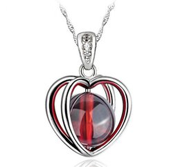 $enCountryForm.capitalKeyWord UK - Fire Opal Pendant High Quality Natural Stone 925 Sterling Silver Necklace Love Heart Garnet Pendant Bohemian Women Stone Jewelry Ladies Girl