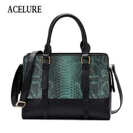 Top Ladies Handbags Australia - Acelure Women Alligator Shoulder Bags Elegant Lady Pu Handbag Female Luxury Handbags Women Bags Designer Fashion Top-handle Bags Q190428