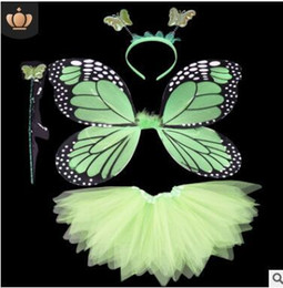Halloween Costume Wings Australia - Halloween Cosplay Fairy Angel Wings Insect Theme Costume For Kids Girl Butterfly Wings Costume Performance Dress