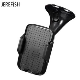 $enCountryForm.capitalKeyWord Australia - Jerefish Universal Mobile Car Gps Accessory Glass Windshield Mount Stand Suction Cup Sticky Support Phone Holder J190507