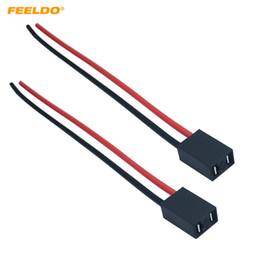 Halogen Connector Socket Australia - FEELDO 2PCS Car H7 LED HID Headlight Cable Connector Plug Lamp Bulb Socket Automotive Wire Halogen Adapter Holder #5960