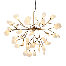 led light tree branches UK - Modern firefly LED Chandelier light stylish tree branch chandelier lamp decorative firefly ceiling chandelies hanging Lighting