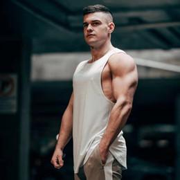 $enCountryForm.capitalKeyWord NZ - Brand Gyms Stringer Clothing Bodybuilding Tank Top Men Fitness Singlet Sleeveless Shirt Solid Cotton Muscle Vest Undershirt