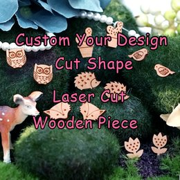 Wholesale Custom Your Own Design Shape Wood Jewelry Charm Laser Cut Wooden Pieces for DIY Necklace Earrings Bracelet Ring Brooch