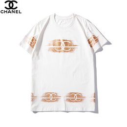 $enCountryForm.capitalKeyWord Australia - 2019 hot men and women models summer round neck cotton two-color pattern hot stamping personality couple summer short-sleeved t-shirt