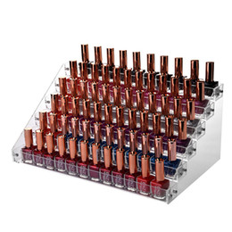 $enCountryForm.capitalKeyWord NZ - 6 Tiers Layers Clear Acrylic Nail Polish Rack Organizer Household Large Holder Cosmetic Lipstick Jewelry Storage