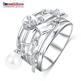 Hollow Fingers Australia - Wholesale- LZESHINE New Design Women Ring Multilayer Hollow Silver Color Finger Ring Exquisite Decorative Jewelry CRI0419-B