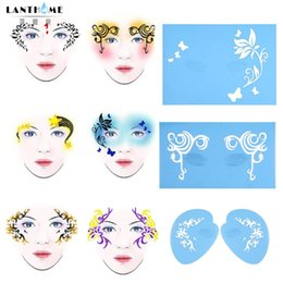 $enCountryForm.capitalKeyWord Australia - 7Styles Reusable Face Body Paint Airbrush Glitter Tattoo Schmink Body Painting Makeup Template Tattoo Design Tool For Carnaval