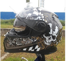 Xxl Motorcycle Half Helmets Australia - Motorcycle helmet With Inner Sun Visor Racing Helmet Safety Double Glasses Full Face Helmets Size M L XL XXL