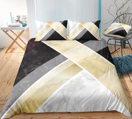 3d Bedding Set White Rose Australia - Thumbedding Dropship Standard Bedding Sets Marble Pattern Fashionable Design Twin Full Queen King 3D Duvet Cover Set Colorful Bed Set