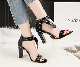 60c84eb5de29 After Shoes Australia - Sexy Open Toe Sandals a Word Band Bow Thick Heel  Sandals After