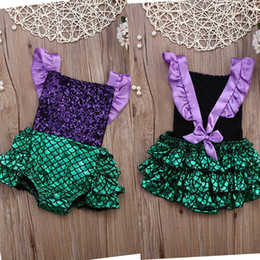 mermaid tutu UK - Pudcoco Girl Clothes AU Kids Baby Girls Sequins Jumpsuit Mermaid Outfits Sunsuit Clothing