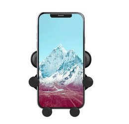 Wholesale Cell Phone This is One Air Vent Mount Mobile Smart Phone Holder Car holder Gravity sensing bracket In retail DHL free
