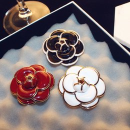 Flower Gift For Love Australia - Women Camellia Brooch 4.6CM Flower Brooch Suit Lapel Pin Shirt Accessories Gift for Love Fashion Brooch Jewelry