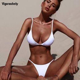 $enCountryForm.capitalKeyWord Canada - Vigorashely 2019 White Sexy Bikini Set Women Swimsuit Solid Beachwear Push Up Swimwear Brazilian Bikini Set Thong Bathing Suit