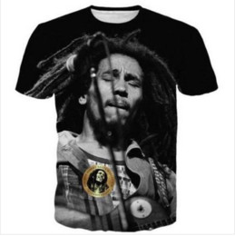 Wholesale t shirt bob marley online – design Casual Mens Womans Bob Marley D HD Print T shirt Summer Short sleeved O neck T shirt Fashion Style Unisex Shirt Brand Tees RX012