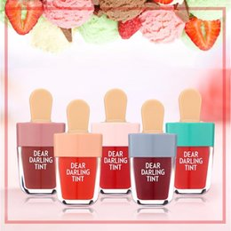 Lip Shapes Australia - Dear Darling Lip Tints Lasting Natural Charming Lip gloss new 5 Color Waterproof Liquid Ice-Cream Shaped Lipstick