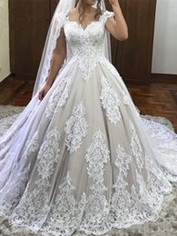 $enCountryForm.capitalKeyWord NZ - 2019 Elegant Lace Sheer Neck A-Line Wedding Dresses Cap Sleeves Maternity Pregnant Dresses Plus Size Custom Made Bridal Gowns