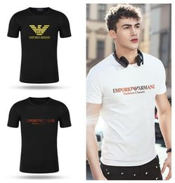 Mens Patterned Tees Australia - 19ss Summer Brand Designer T Shirts Mens Tees T Shirt Brand Letter Pattern Mens Clothing Short Sleeve Tshirt Casual T-shirt