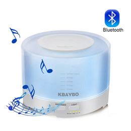 $enCountryForm.capitalKeyWord NZ - 500ml Ultrasonic Air Aroma Humidifier Electric Aromatherapy Essential Oil Aroma Diffuser with Bluetooth Music Speaker