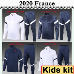 kids boys jacket Canada - 2020 FRANCE Jacket kids Kit Soccer Jerseys National Team MBAPPE GRIEZMANN Tracksuit Child Suit Training Wear Football Shirt Maillot de foot