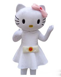 4c9af17abdb Hot Selling hello kitty Mascot Costume Hello Kitty cat white dress Cartoon  Character for adult animal Halloween Purim party